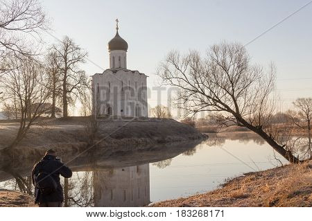 Photographer Takes A Beautiful Landscape Of The Church On The Lake At Sunrise