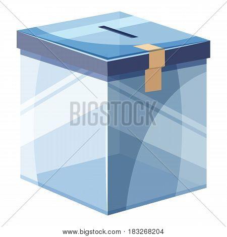 Box for donations icon. Cartoon illustration of box for donations vector icon for web