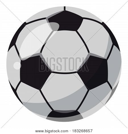 Leather soccer ball icon. Cartoon illustration of leather soccer ball vector icon for web