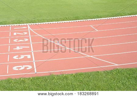 Start line running track athletics sport field