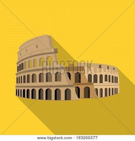 Colosseum in Italy icon in flat design isolated on white background. Countries symbol vector illustration.