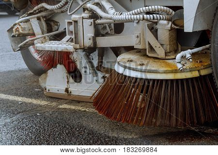 Part Of A Street Cleaning Vehicle.