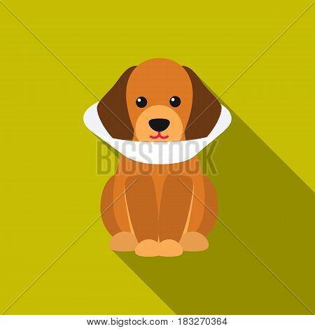 Sick dog vector illustration icon in flat design