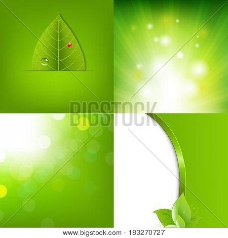 Eco Green Leaf Banner