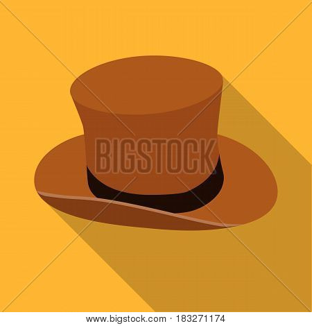 Top hat icon in flat style isolated on white background. England country symbol vector illustration.
