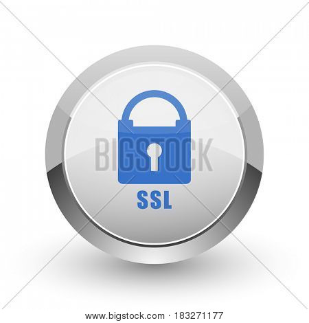 Csl chrome border web and smartphone apps design round glossy icon.