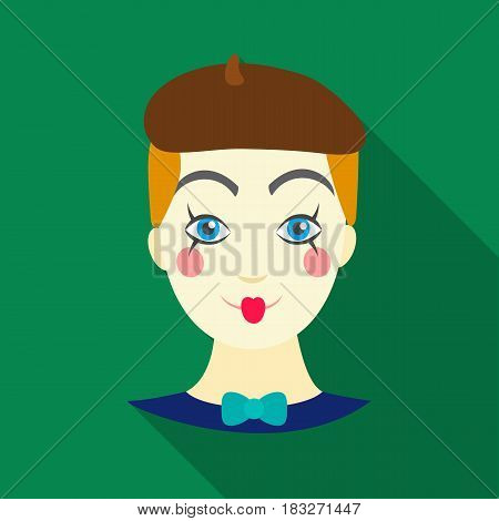 Mime artist icon in flat style isolated on white background. Event service symbol vector illustration.