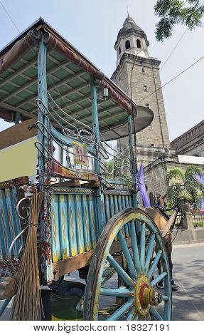 Traditional horse and cart in Manila