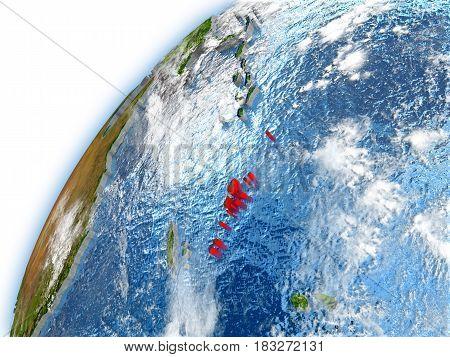 Vanuatu On Model Of Planet Earth
