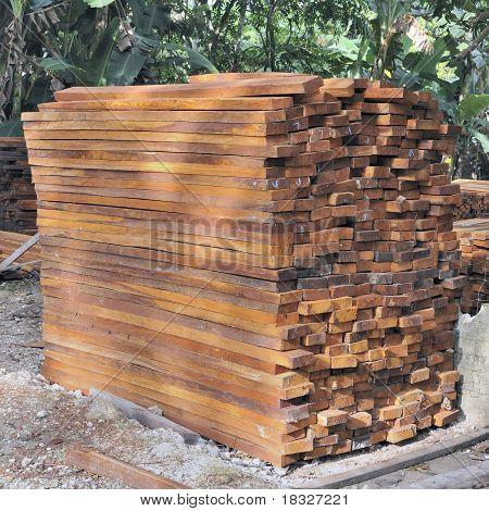 Tropical hardwood timber
