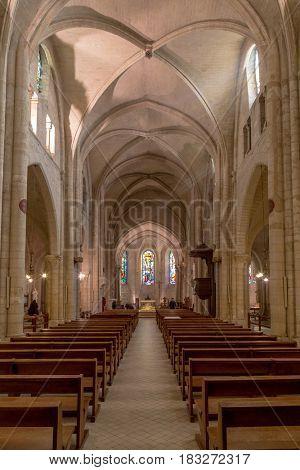 Paris, France, March 26, 2017: Paris the Church of St. Peter in Montmartre