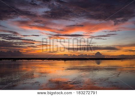 Sunset On The Beach Of Andaman Sea