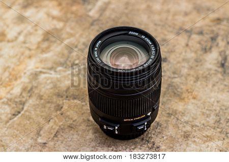Black Photographic Lens