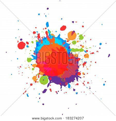 abstract vector paint multi color background. illustration vector desing