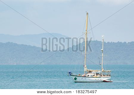The beautiful yacht near the Payam island, Thailand