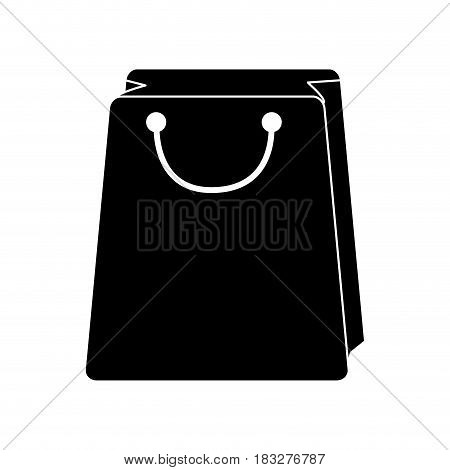 shopping bag icon image vector illustration design  inverted black and white