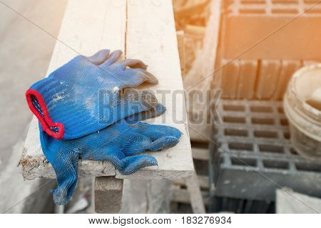 The glove , equipment use for construction