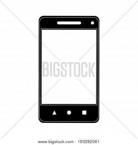 modern cellphone icon image vector illustration design