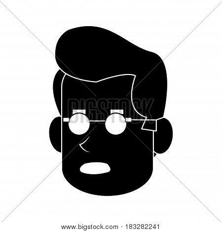 worried middle age man icon image vector illustration design