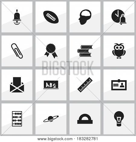 Set Of 16 Editable Graduation Icons. Includes Symbols Such As Alarm Bell, Astrology, Straightedge And More. Can Be Used For Web, Mobile, UI And Infographic Design.