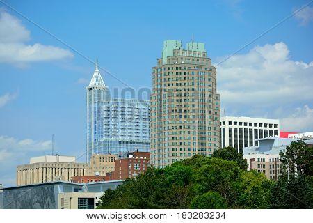 Downtown Raleigh North Carolina Metro Building Skyline
