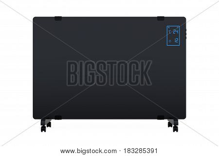 Mobile Convection Heater Radiator on a white background. 3d Rendering.