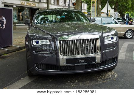 BERLIN - JUNE 14 2015: Full-size luxury car Rolls-Royce Ghost (since 2010). The Classic Days on Kurfuerstendamm.