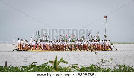 Phaung Daw U Festival On Inle Lake In Myanmar