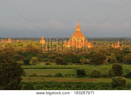 Ancient Buddhist Temple In Myanmar