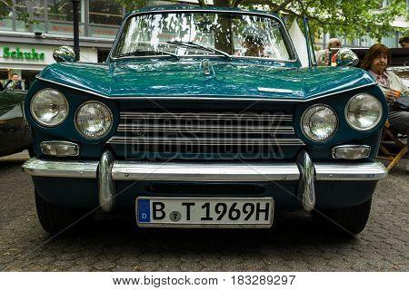 BERLIN - JUNE 14 2015: Compact six-cylinder car Triumph Vitesse. The Classic Days on Kurfuerstendamm.