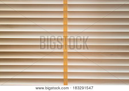 Texture Wood Blinds Stitched Rope stock photo