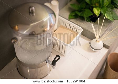 Cold Drinking Water For Free Service stock photo
