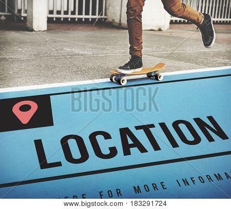 Location Navigation Destination Direction Concept