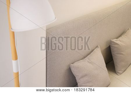Contemporary Furniture In Minimal Room Style stock photo
