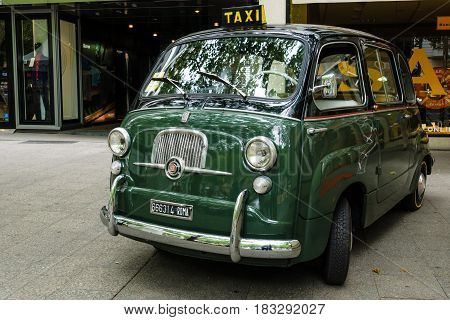 BERLIN - JUNE 14 2015: Mini MPV Fiat 600 Multipla. The Classic Days on Kurfuerstendamm.