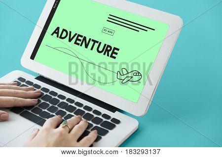 Adventure Trip Journey Plane Symbol