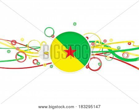 Flag Of French Guiana, Circles Pattern With Lines