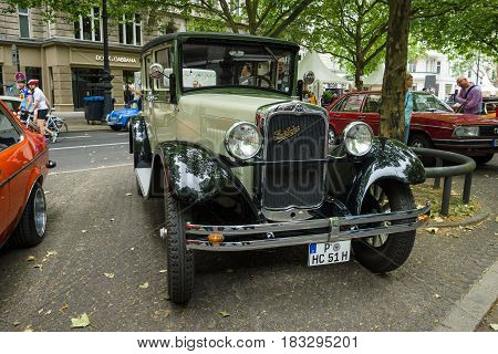 BERLIN - JUNE 14 2015: Vintage car Erskine (Studebaker) Model 51 Sedan 1928. The Classic Days on Kurfuerstendamm.