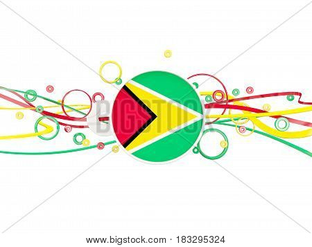 Flag Of Guyana, Circles Pattern With Lines