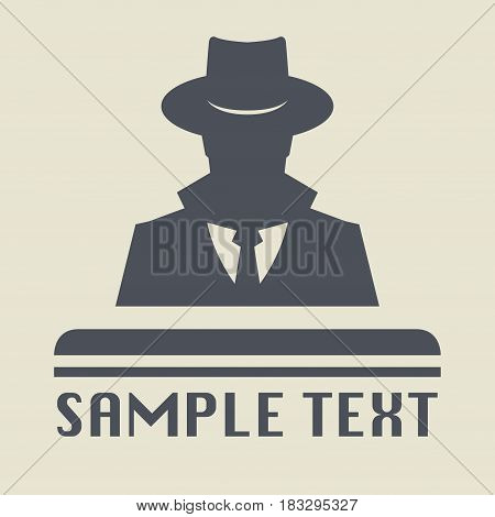 Spy icon or sign symbol. Man in hat vector illustration