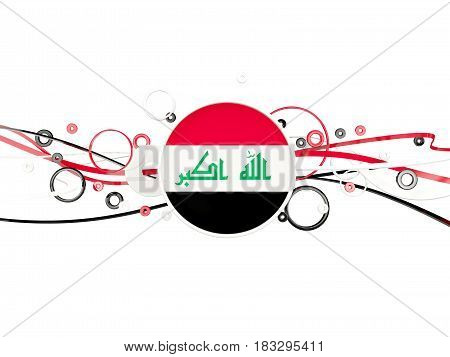 Flag Of Iraq, Circles Pattern With Lines