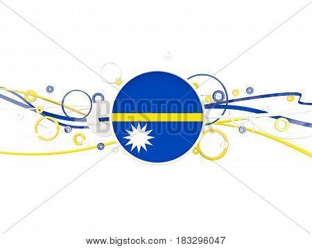 Flag Of Nauru, Circles Pattern With Lines