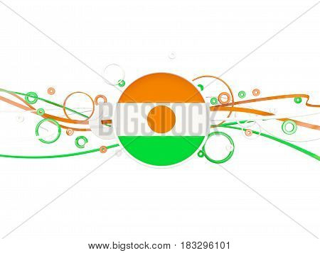 Flag Of Niger, Circles Pattern With Lines