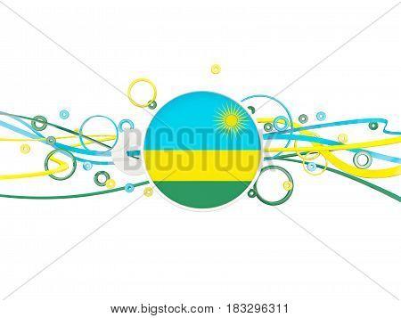 Flag Of Rwanda, Circles Pattern With Lines