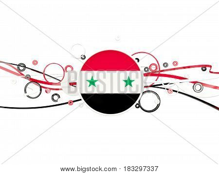 Flag Of Syria, Circles Pattern With Lines