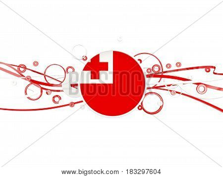 Flag Of Tonga, Circles Pattern With Lines