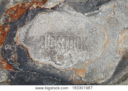 The surface of the stone with brown and gray tint a photo