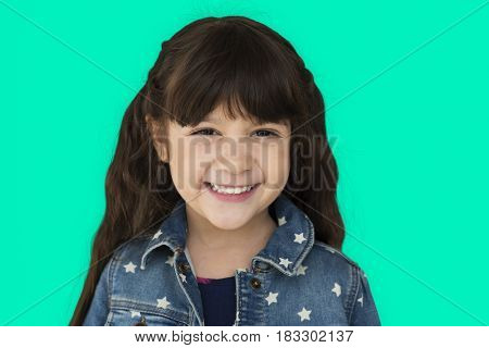 Little Girl Having Fun Portrait