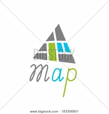 City Map Creative Symbol Concept. Vector Illustration
