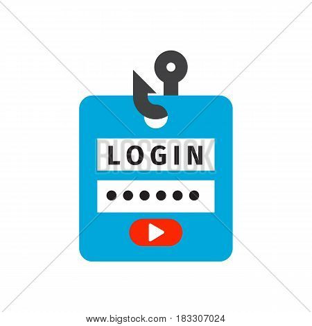 Login lock icon security protection safety password sign privacy element access shape open. Private safeguard modern firewall equipment vector illustration.